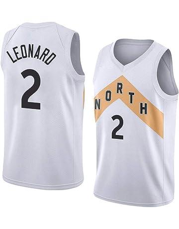 runvian Camiseta de Baloncesto para Hombre, NBA Toronto Raptors #2 Kawhi Leonard Swingman Edition