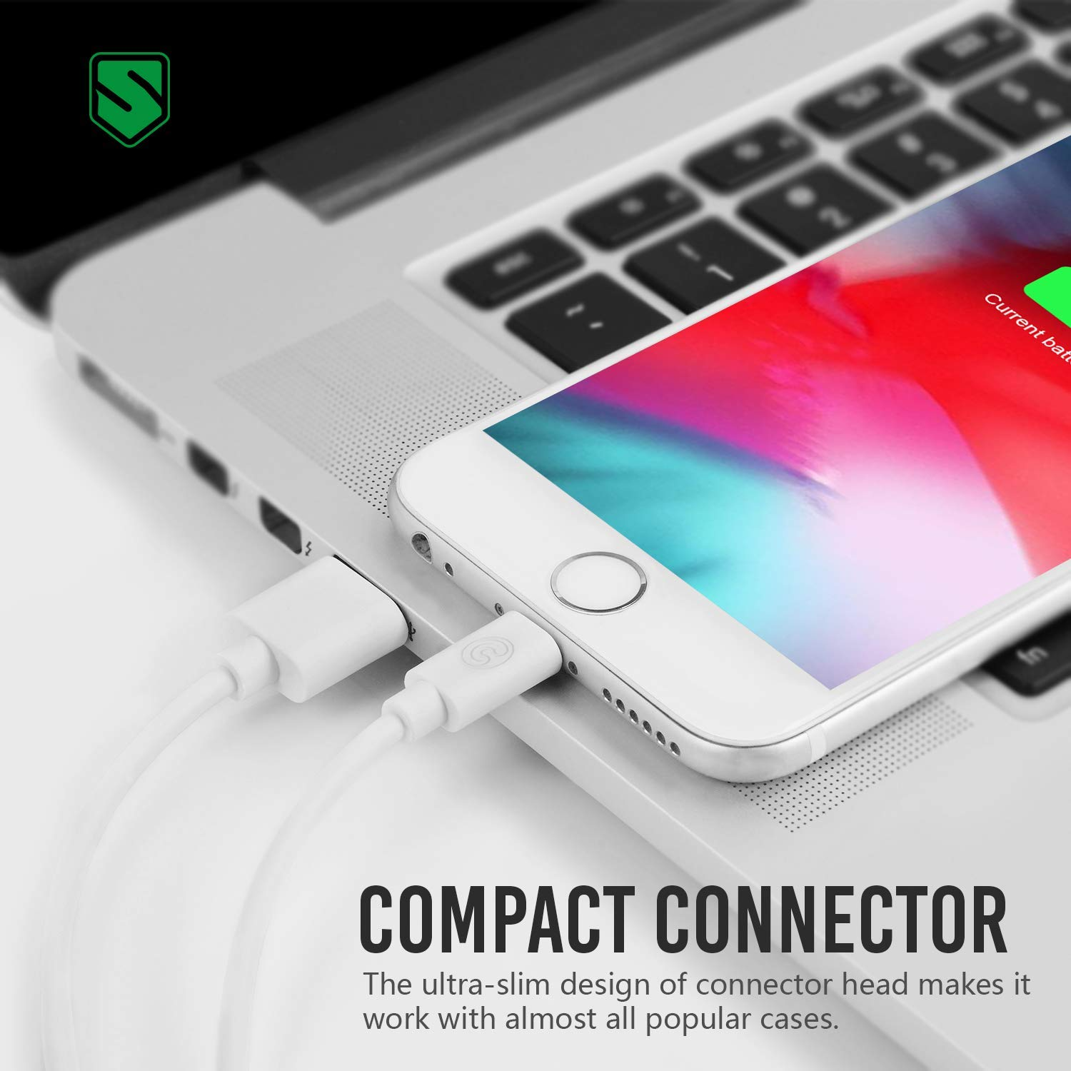 Atill iPhone Charger 6Pack 3FT USB Lightning Cable Charging Cord Compatible with/iPhone XR XS XSMax X 8 8 Plus 7 7 Plus 6 6s Plus SE 5 5s 5c iPad iPod White