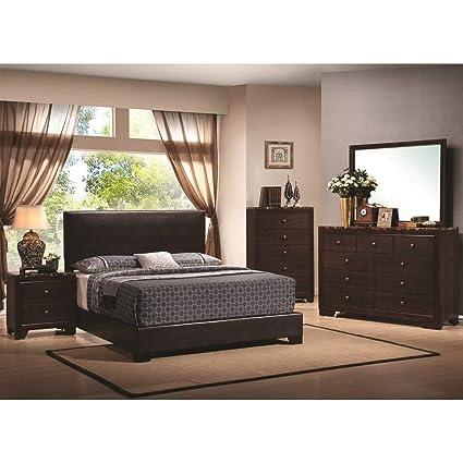 Marble Bedroom Set >> Amazon Com Cdecor Conrad Marble 5 Piece Bedroom Set Queen Kitchen