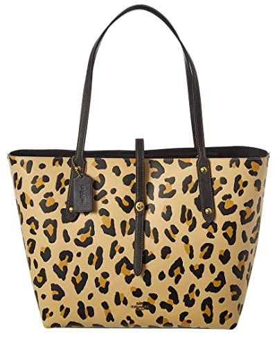 89adf718e Amazon.com: COACH Women's Leopard Print Market Tote Leopard One Size: Shoes