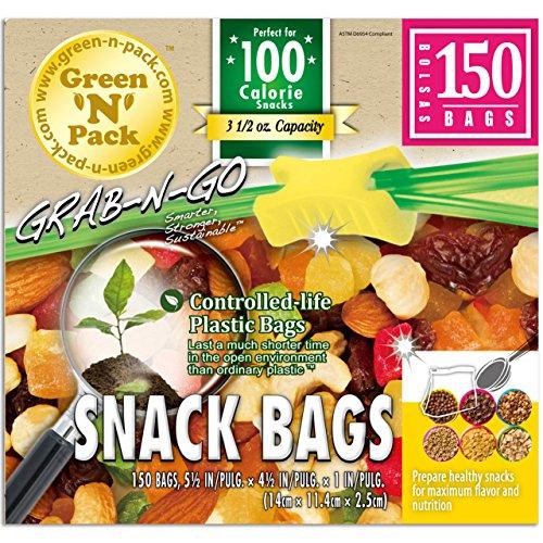 Green N Pack Zipper Food Freezer Bags (Gallon/Quart/Sandw...