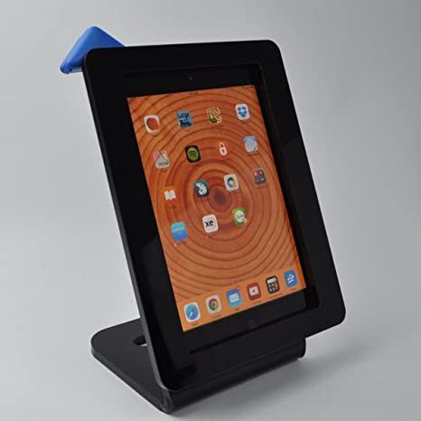 iPad Air negro secureity acrílico soporte para POS, Quiosco, Store ...