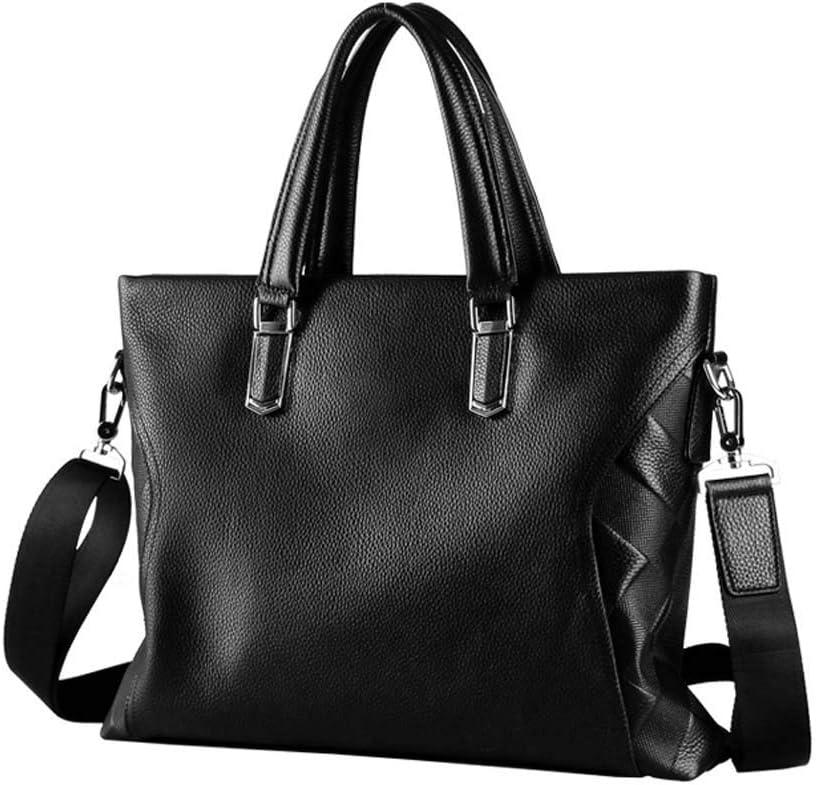 Balalafairy-bri Men Laptop Briefcase Bag Men Leather Briefcase Work Messenger Bags Work Shoulder Bag