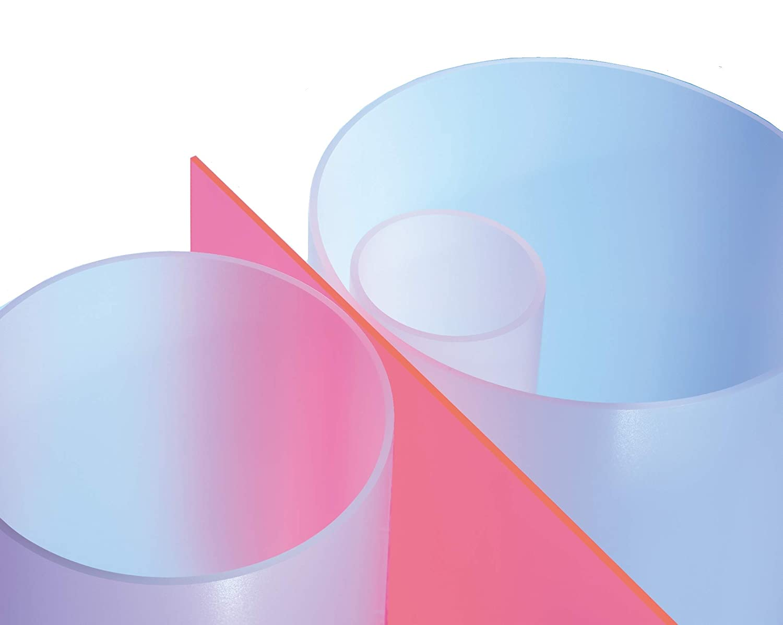 L = 1000 mm // 1 Meter Plexiglas/® Satinice DF Satin Ice XT Rohr satiniert /ø 70//64 mm