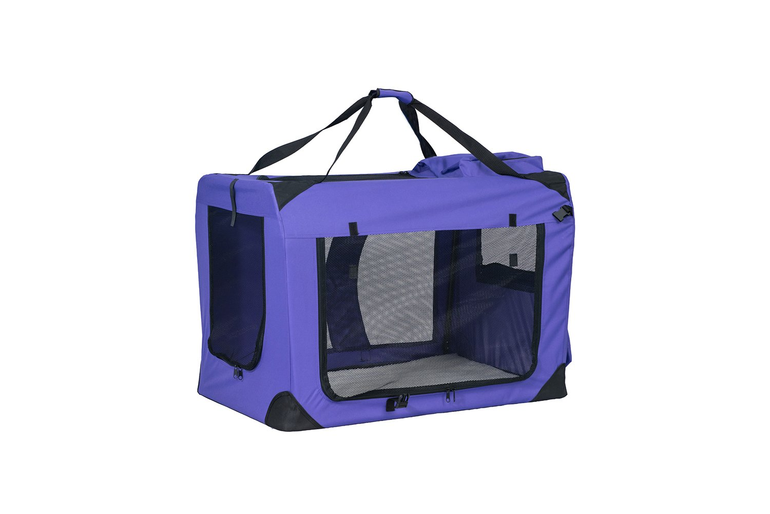 BuyHive Pet Dog Carrier Travel Tote Dog Crate Cat Puppy Carrying House Training Kennel Portable (Large, Purple)