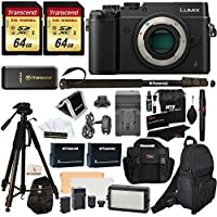 Panasonic DMC-GX8KBODY LUMIX GX8 Interchangeable Lens DSLM Camera Body Only + 2 Transcend 64 GB High Speed Class 10 + LED Kit + Polaroid Tripod + Monopod + 2 Spare Batteries + Charger + 2 Bags + More Noticeable Review Image