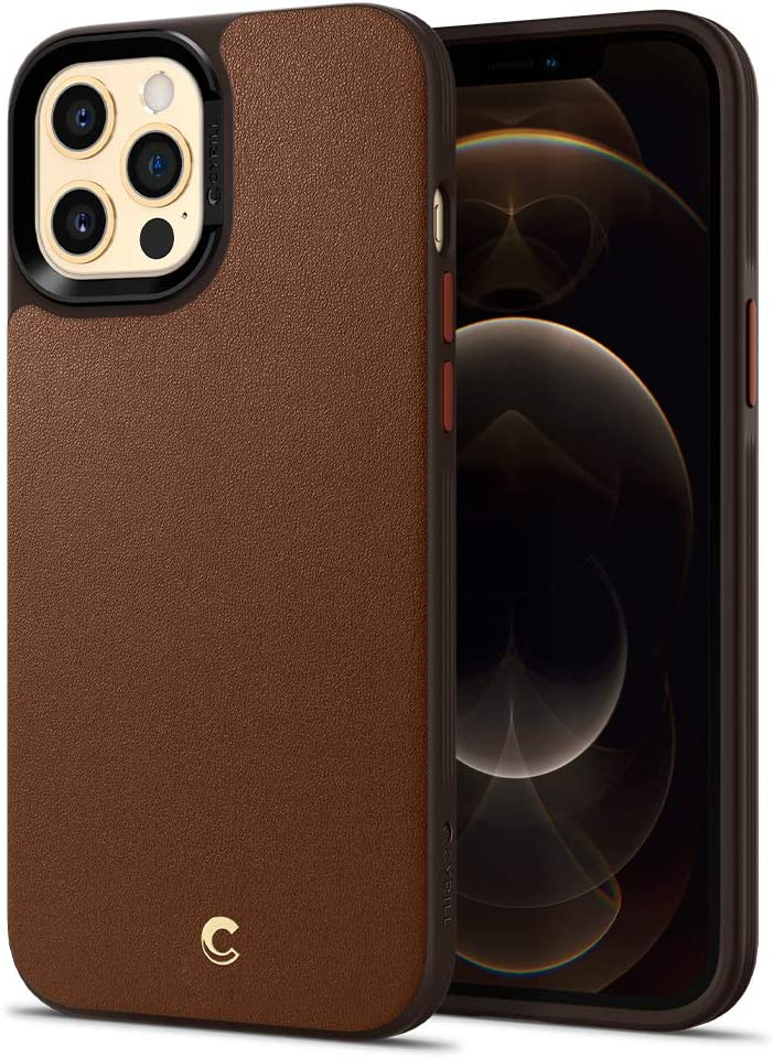 CYRILL Leather Brick Designed for iPhone 12 Pro Max Case (2020) - Saddle Brown