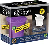 disposable coffee cups for keurig - Perfect Pod EZ-Cup Refillable Capsule, Keurig 1.0 and 2.0 Compatible