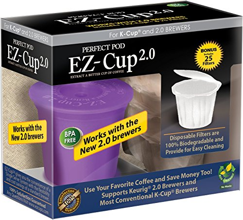 Perfect pod ez cup refillable capsule keurig 1 0 and 2 0 for Perfect kitchen sharjah