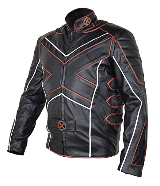 coolhides Mens Xmen Fashion Moto Leather Jacket at Amazon ...