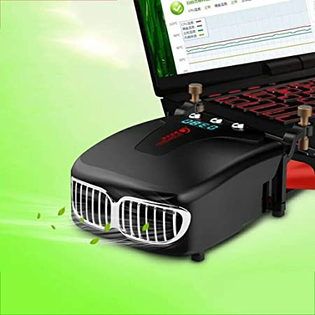 ... Ventilador del refrigerador Ventilador Velocidad del viento ajustable, Ventilador de vacío del extractor de aire del portátil,Black: Amazon.es: Hogar
