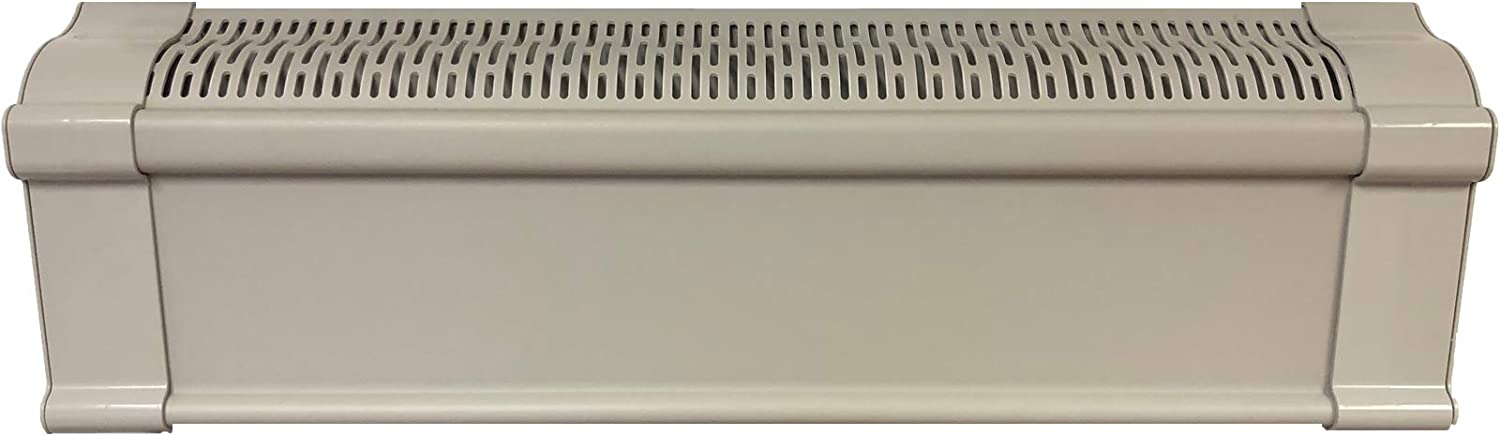 Baseboard Heat Covers, Better Baseboard Heater Covers WITH Left & Right END CAPS – Direct REPLACEMENT Set | FEATHER GREY (4 Feet)