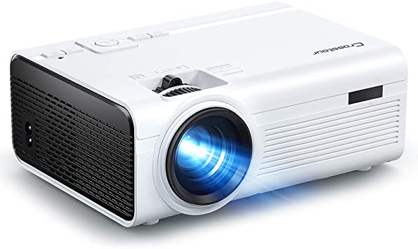 Crosstour Mini proyector de vídeo LED para cine en casa, soporta ...