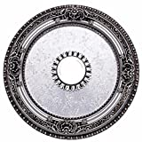 Elegant Lighting Medallion, Pewter, 24'' by 24'' by 24''