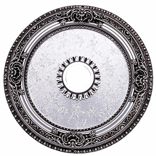 Pewter Ceiling Medallion (Elegant Lighting Medallion, Pewter, 24