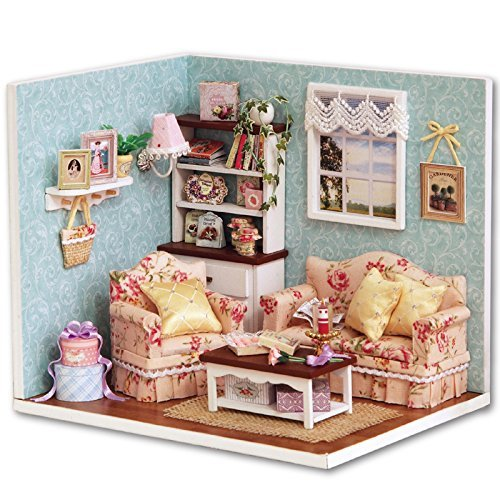 Rylai 3D Puzzles Wooden Handmade Dollhouse Miniature DIY Kit - Reunion with Happiness Series Miniature Scene Wooden Dollhouses & Furniture/Parts(1:32 Scale Dollhouse) -
