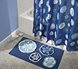 mDesign-Microfiber-Sand-Dollar-Bathroom-Shower-Accent-Rug-34-x-21-Blue
