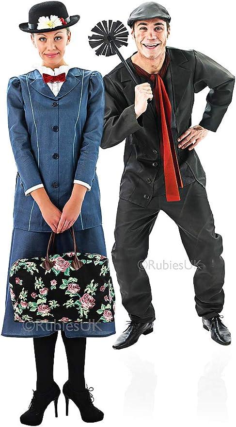 Figura Mary Poppins y Bert de la suerte victoriana disfraz de ...
