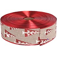 KESYOO Christmas Ribbon Roll Pine Jute Burlap Ribbons Rustic DIY Craft Ribbon for Christmas Bows Wreaths Gift Wrapping…