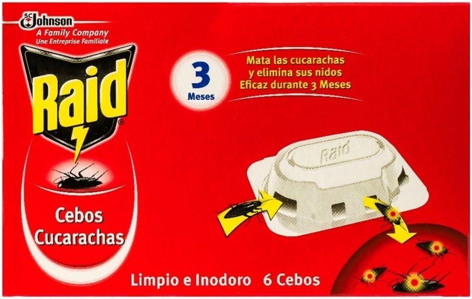 Raid - Insecticida Cebos Cucharachas control, 6 unidades
