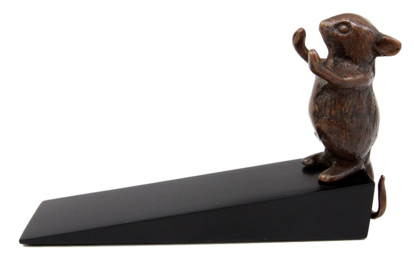 Atlantic Collectibles Brass Metal Whimsical Pet Mouse Door Stop Stopper Wedge Home Decor by Ebros Gift (Image #7)