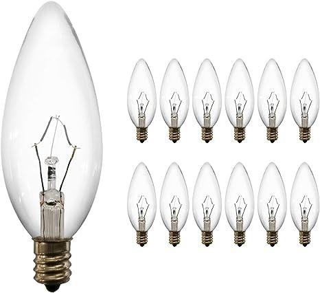 Sylvania E26 Candelabra Base Ceiling Fan Light Bulb 40W Incandescent B10 12 Pack