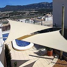 E.YISIN Sun Shade Sail 12'x12'x12' Uv Top Outdoor Canopy Patio Lawn Triangle Beige Shade canopy Sun Shelter