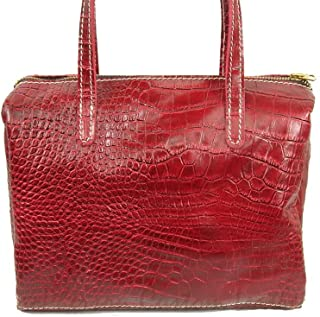 product image for Leather Tote Purse/Bag in Red Stamped Croc