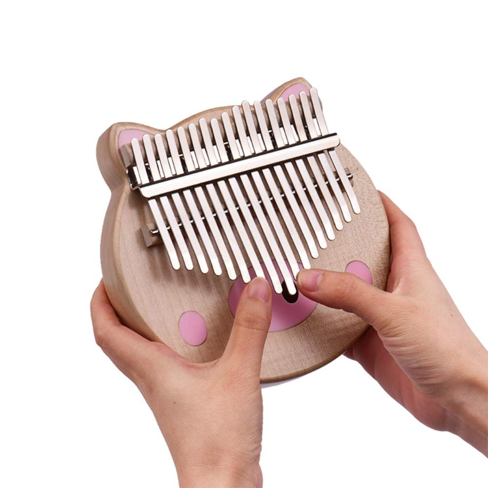 YUSDP Kalimba, 17 Key Thumb Piano with EVA High-Performance Protective Case, Tune Hammer and Study Instruction- Lovely Shape for Friends by YUSDP