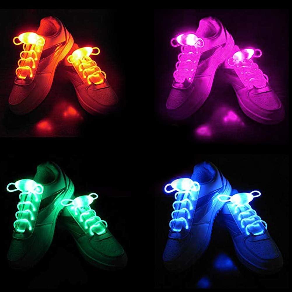 Mallalah Lacets Brillants LED Corde 3 Modes de Lumi/ère Parfait pour Soir/ées Club Danse Cyclisme Discoth/èque Carnaval Course /à Pied