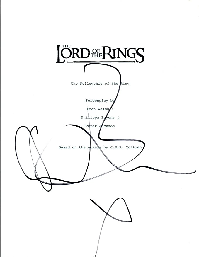 Orlando Bloom Signed The Lord Of The Rings The Fellowship Movie