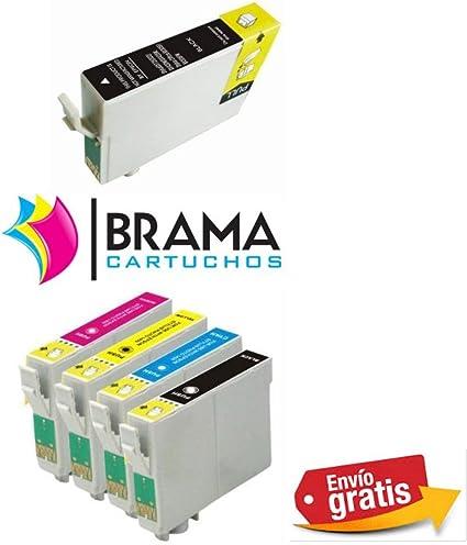 5 X Cartuchos compatibles NON OEM para Epson Bramacartuchos