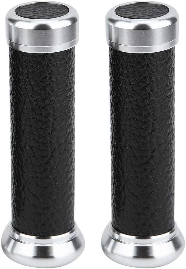 Brown Rivestimento in Pelle PU Protezione Antiscivolo Protezione Mano Manopole universali per Manubrio Moto