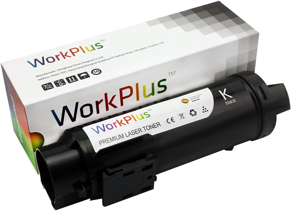 WorkPlus Laser Toner Catrideges Compatible Toner Cartridges Replacement for Dell H625cdw H825cdw S2825cdn Printers Black 1pcs