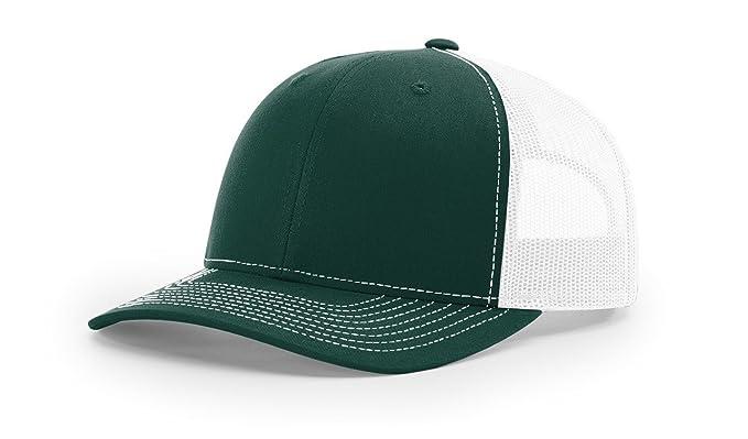 Amazon.com  Richardson Dark Green White 112 Mesh Back Trucker Cap ... 43735313452