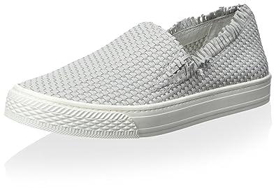 loeffler slip  : Loeffler Randall Women's Slip-On Sneaker, Light Grey ...