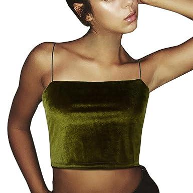 37d3bc1718 VEMOW Crochet Top Sequin Top Triangle Bikini Top Womens Funny Tank Top  Dress Women Crop Top