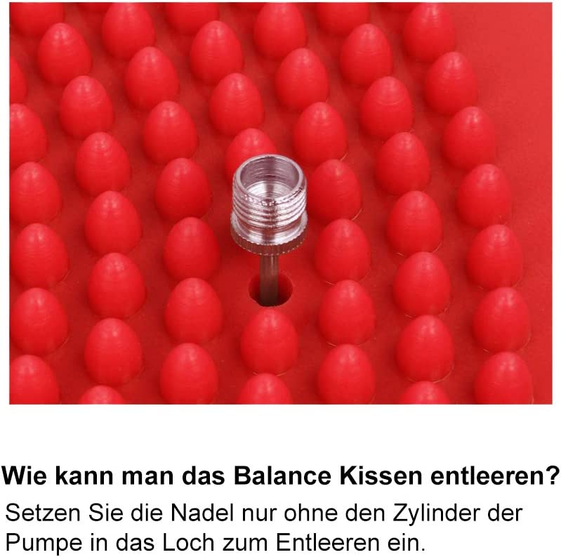 Trideer Balancekissen R/ückentraining und Coordination Pumpe f/ür Fitness Ballsitzkissen inkl Reha Anti-Burst Sitzkissen Balance Board Balance Kissen Wackelbrett