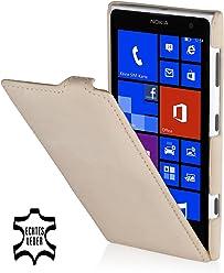StilGut, UltraSlim, pochette exclusive de cuir véritable pour le Nokia Lumia 1020, old style beige