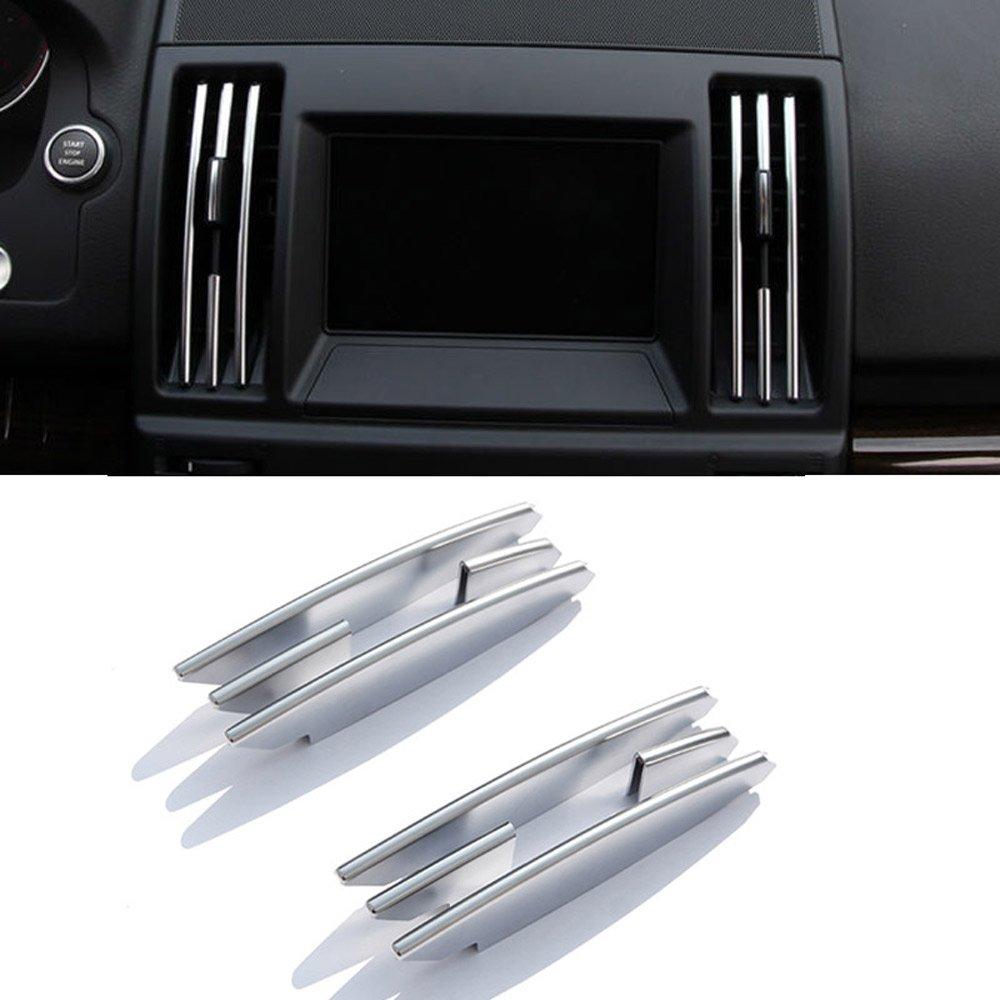 8PCS plastica cromata interno Center climatizzatore Vent Outlet strisce Trim per Freelander 2 2008 - 2015 auto di DIYUCAR