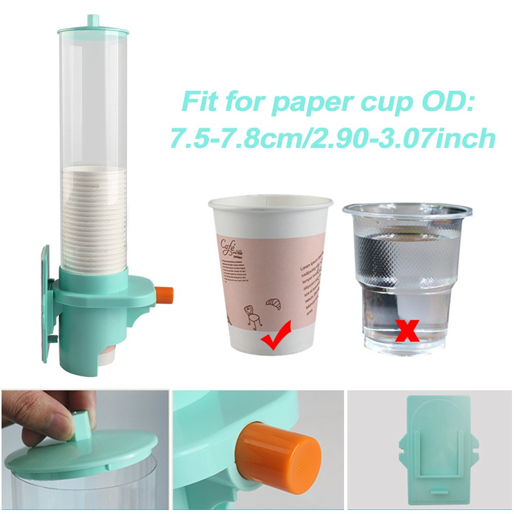 Amazon.com: YOTHG Paper Cup Dispenser Plastic Automatic Water Cup Holder Dispenser Wall Mount Pull Type Dust-Proof Cup Holder Home Storage Coffee Drink ...