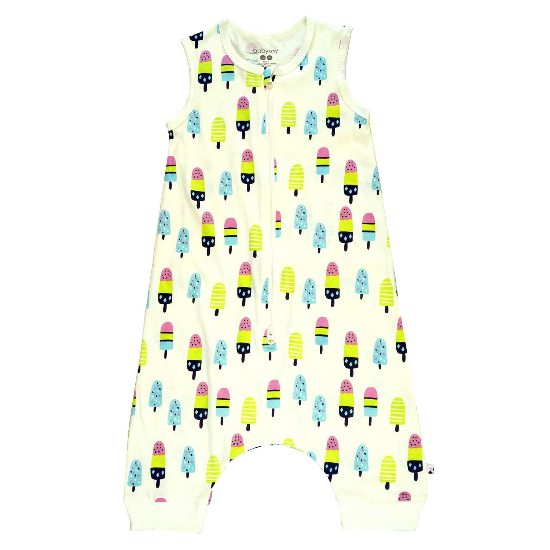 Babysoy Pattern Walker Sleeper Wearable Blanket Sacks (4T, Popsicles)