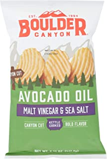 product image for Boulder Canyon Natural Foods Kettle Chips - Malt Vinegar and Sea Salt - Case of 12 - 5.25 oz.