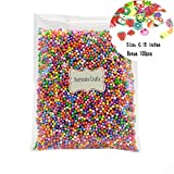 2-4mm(0.08-0.15 Inch)Mini Styrofoam Foam Balls Decorative Slime Ball DIY Wedding Party School Home Decoration 1pack(Approx 8000pcs) (Mixed colors 5)