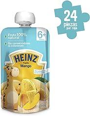 Heinz Papilla para Bebé, Sabor Mango, 113 g, 24 Piezas