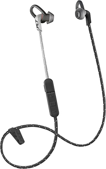 Amazon Com Plantronics Backbeat Fit 305 Sweatproof Sport Earbuds Wireless Headphones Black Grey