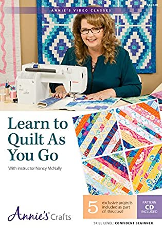 Amazon.com: Learn to Quilt as You Go Class DVD: With Instructor ... : quilting dvds for beginners - Adamdwight.com