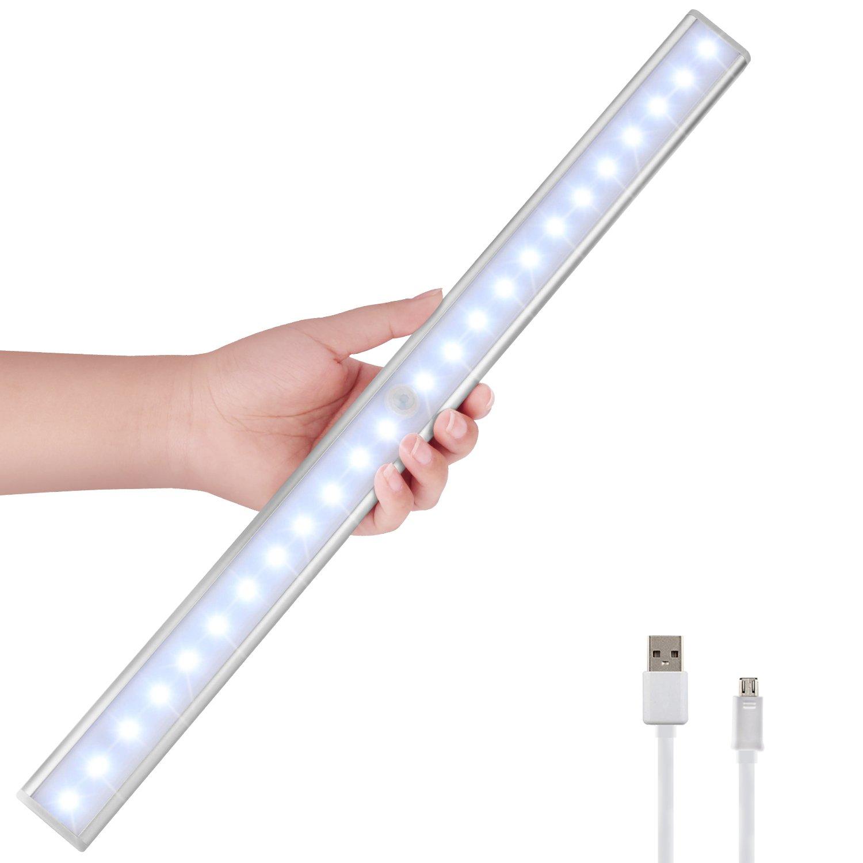 LED Schrankbeleuchtung, Homore Motion Sensor Licht, 56 LED 2250 mAh ...