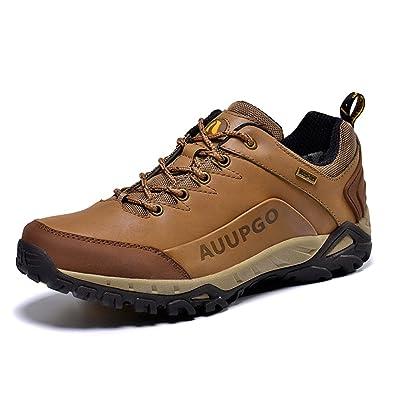 Suetar Chaussures de Sport d'extérieur Tout Terrain imperméables pour Hommes et Femmes Chaussures de Randonnée et Trekking en Cuir Unisexe Xx4qDw