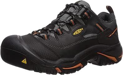 KEEN Utility Men's Braddock Low Steel-Toed Boot,Black/Bossa